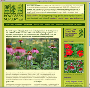 how green nursery's horticultural WordPress website