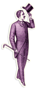 vintage illustration of a victorian gent in fine fig